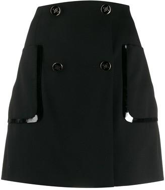Fendi wrap mini skirt