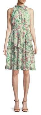 Eliza J Floral Sleeveless Shift Dress