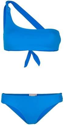 Tara Matthews Calvi one-shoulder bikini set