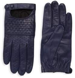 Portolano Basket Weave Leather Gloves