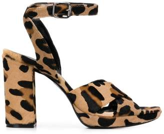 P.A.R.O.S.H. leopard print sandals