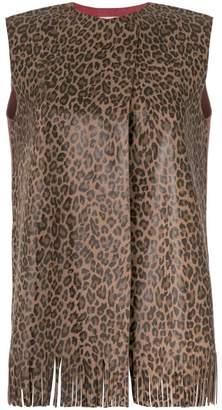 Daniela Pancheri leopard print vest
