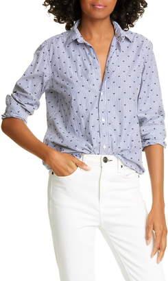 Frank And Eileen Heart & Stripe Button-Up Shirt