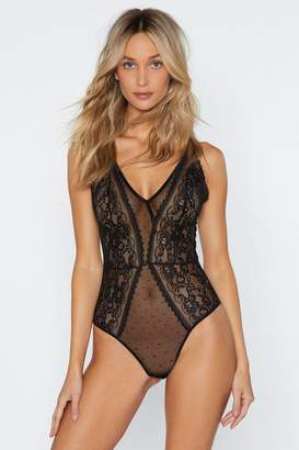 Nasty Gal It Must Have Been Love Lace Bodysuit