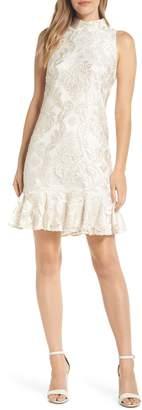 Eliza J Sleeveless Jacquard Dress