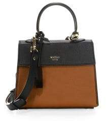 Mateo New York Mini Elizabeth The II Leather Satchel