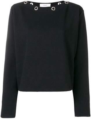 Pringle eyelet embellished sweater