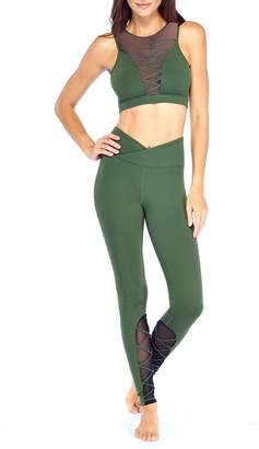 Electric Yoga Entrapped Sheer Lace-Up Leggings