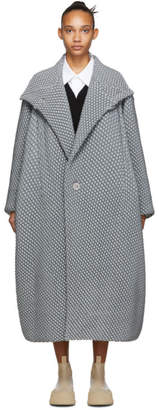 Issey Miyake Grey Bubble Coat