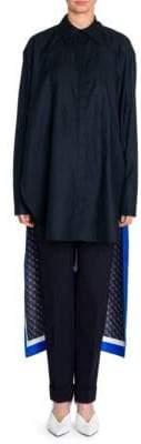 Stella McCartney Rayna Monogram Silk Scarf Shirt