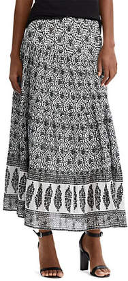 Chaps Petite Tiered Paisley Maxi Skirt