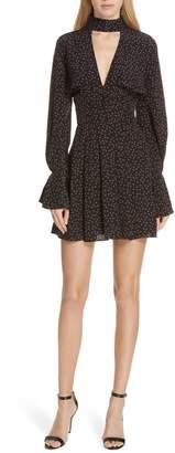 Nicholas Ditsy Rose Silk Flounce Dress