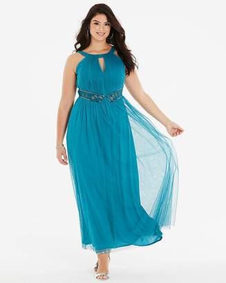 6819a18ba308 Little Mistress Lace Insert Maxi Dress