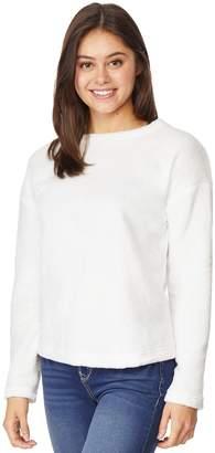 Juniors' Wallflower Fleece Pullover Top