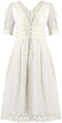 ZIMMERMANN Winsome Tea broderie-anglaise cotton midi dress $1,315 thestylecure.com
