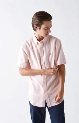 Obey Eighty Nine Stripe Short Sleeve Button Up Shirt