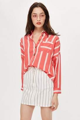Topshop Petite Wide Stripe Shirt