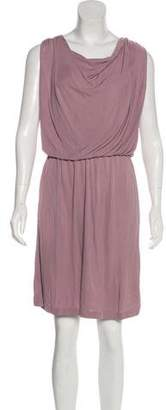 Halston Sleeveless Drape Dress