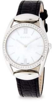 Gucci Diamond, Mother-of-Pearl & Steel Strap Watch