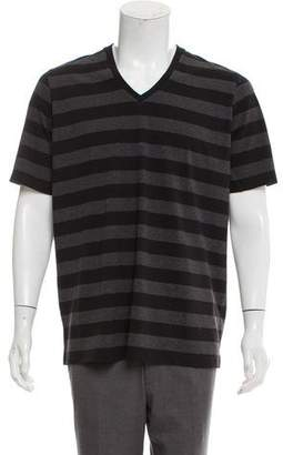 Y-3 Striped V-Neck T-Shirt