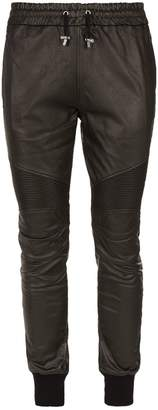 Balmain Coated Biker Sweatpants