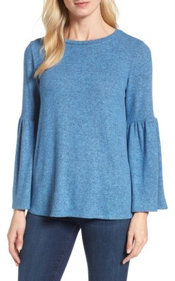 Women's Gibson Bell Sleeve Cozy Fleece Pullover $59 thestylecure.com