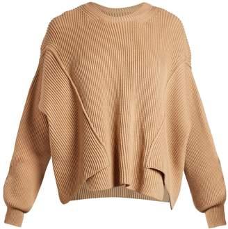 Stella McCartney Round-neck ribbed-knit wool sweater
