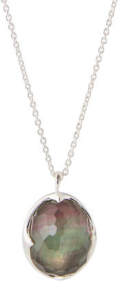 Ippolita Rock Candy Pendant Necklace in Clear Quartz & Black Shell
