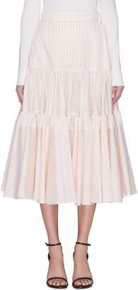 Calvin Klein Windowpane check ruffle tiered skirt