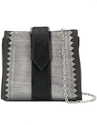 Just Cavalli snake embossed panelled crossbody