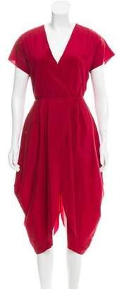 Alice + Olivia Silk Midi Dress