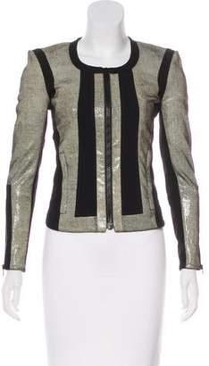 Helmut Lang Patterned Leather Jacket