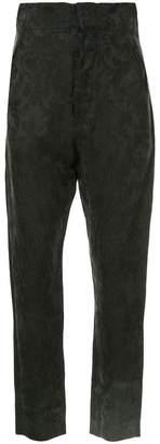 Uma Wang jacquard cropped trousers