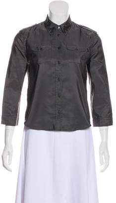 Prada Silk Button-Up Top