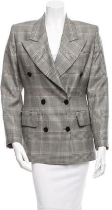 Gucci Wool Plaid Blazer $225 thestylecure.com