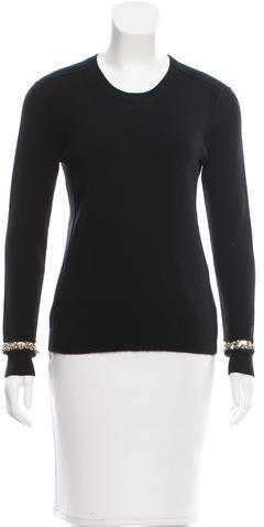 Chloé Chloé Chain-Link-Embellished Cashmere Sweater