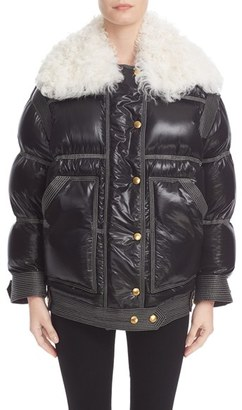 Women's Burberry Puffer Coat With Removable Genuine Shearling Collar $2,995 thestylecure.com
