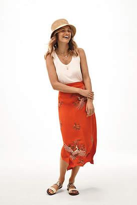 Maeve Crane-Embroidered Skirt