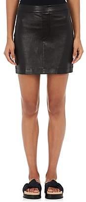 Helmut Lang Women's Grained Leather Miniskirt - Blk