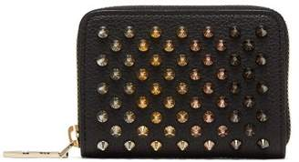 Christian Louboutin - Panettone Zip Around Leather Coin Purse - Womens - Black Multi