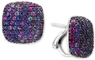 Effy Splash by Purple Sapphire Stud Earrings (3-5/8 ct. t.w.) in Sterling Silver