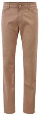 BOSS Regular-fit jeans in tan BCI stretch denim
