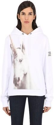 Burberry Unicorn Print Cotton Sweatshirt Hoodie