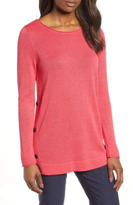 Nic+Zoe Looking Forward Side Button Sweater