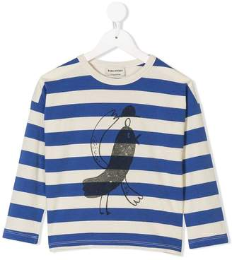 Bobo Choses logo print striped T-shirt
