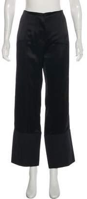 Paco Rabanne Sateen Wide-Leg Pants