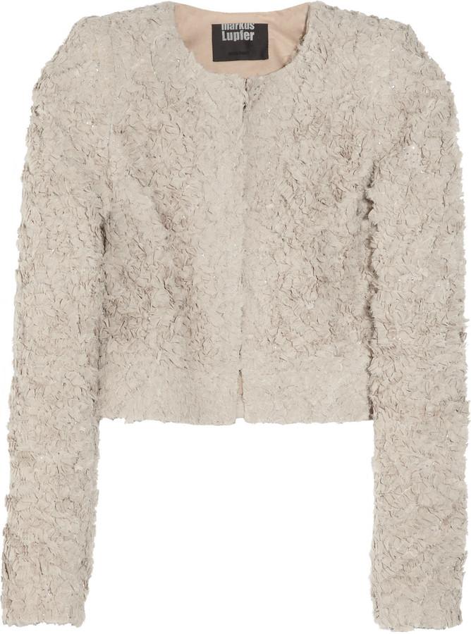 Markus Lupfer Lauren silk ruffle jacket