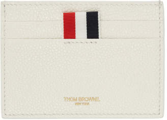 Thom Browne SSENSE Exclusive White Single Card Holder