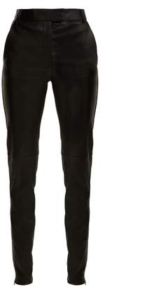 Joseph Mid-rise stretch-leather trousers