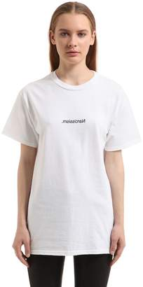 Narcissism Cotton Jersey T-Shirt